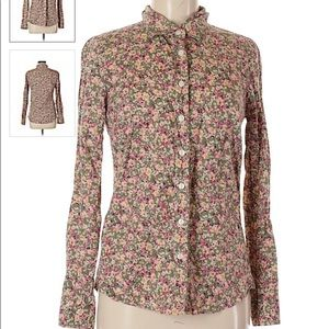 J. Crew The Perfect Shirt Floral button up sz. M